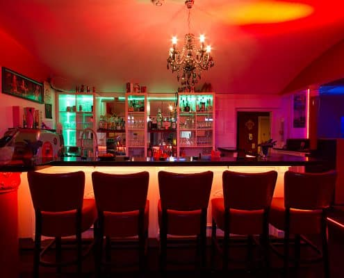Bar Lillith-Club - Ansicht vom Bistro aus